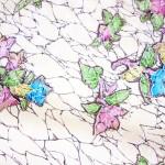 氷割れに花模様小紋着物 袷