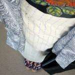 伊勢木綿×朱子織りバラ帯
