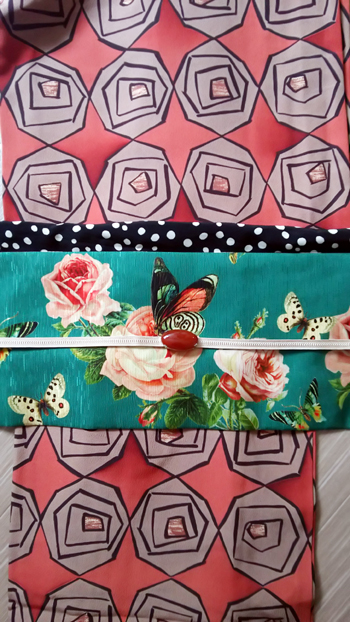 薔薇の着物と帯