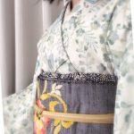 金子みすゞさんの着物に素朴な感じの帯